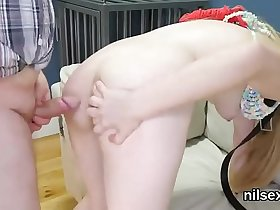 Slutty chick was taken in butthole assylum for awkward therapy