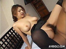 Busty Japanese babe wants it hard