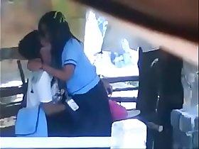 school students smooching kissing outdoor sex mms