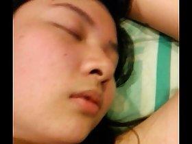 Sleeping asian amateur slut 2
