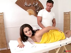 Euro Beauty Madlin enjoys a secret massage   Anal Fuck