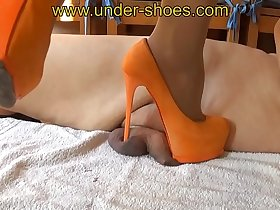 Miss Katarina extreme orange high heels 12 cm savagery