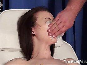 Emilys extreme needle and gagged medical piercing pussy pain of uk slave