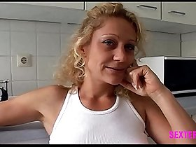 Little amateur Nylon MILF Whore eager to drink last drop of facial after fuckign