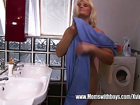 Peeping Stepson Caught And Fucked By Stepmama