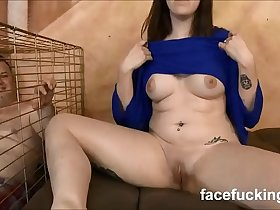 (new) Slut wife takes pet husband to watch her get destroyed hard