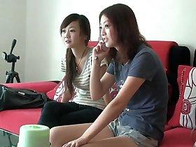 Sleepy Asian foot worship