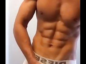 Bodybuilder Taking His Underwear Off