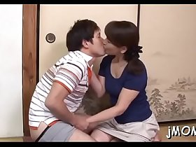 Mature japanese babe goes naked and gets floppy scones played